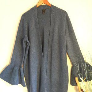 Ann Taylor Long oversized cardigan bell sleeves L
